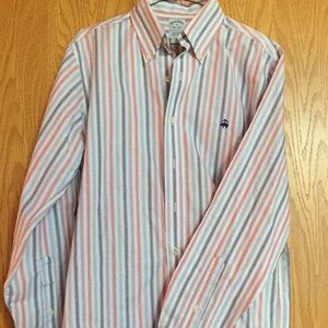 Men's Brooks Bros striped dress shirt